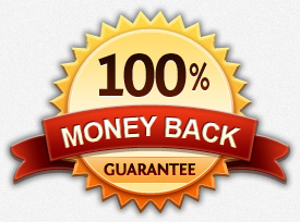 An image of a 100% money back guarantee symbol