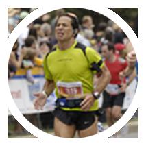 A photo of a runner