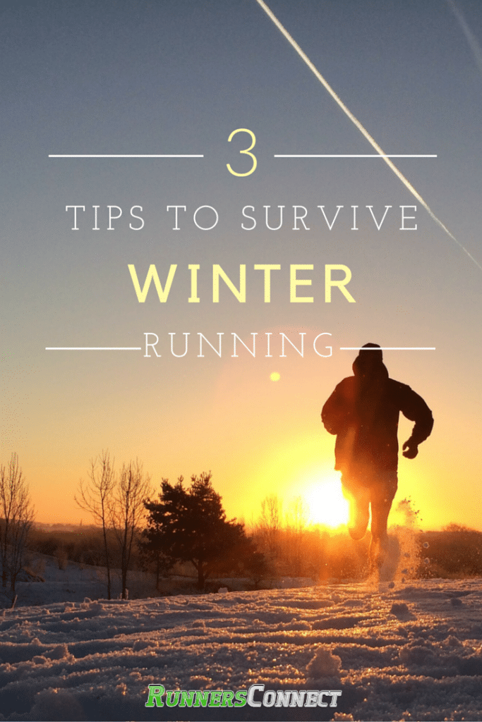 Running in the snow and cold can be difficult. This article gives some helpful tips to help you survive the winter running blues.
