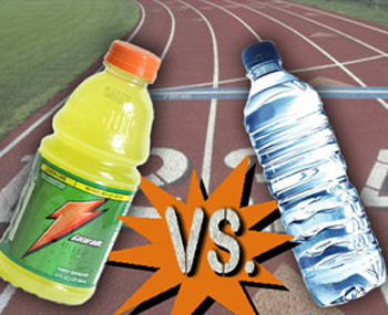 sports drinks vs water
