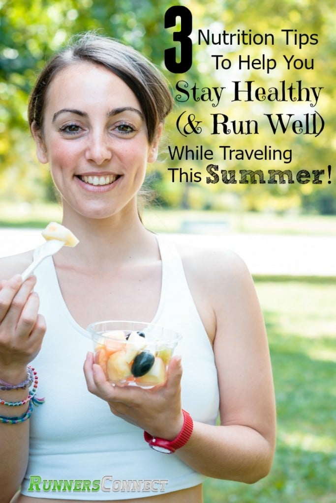 3 Nutrition tips and a list of healthy, travel-friendly runner snacks to help you maintain healthy eating habits while traveling whether you are racing or not. This guide will help you get the most out of your running this summer.