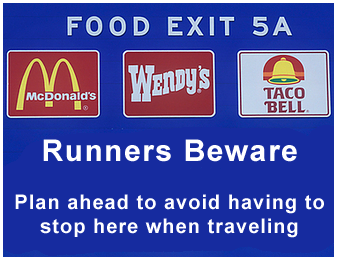 eating when travelling for runners