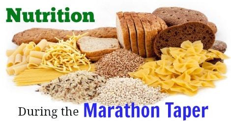 Nutrition During the Marathon Taper