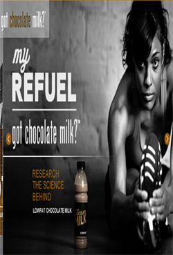 chocolate milk recovery drink runners