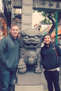 Jachima and her boyfriend, Jeff, during a recent vacation in Chinatown, San Francisco.