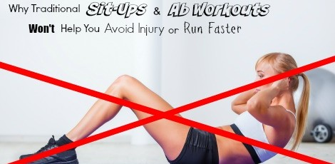 Many runners strive for 6-pack abs, but sit-ups & abs do not help you run faster. This is what core means for runners, why it is important, & the most effective exercises for running.
