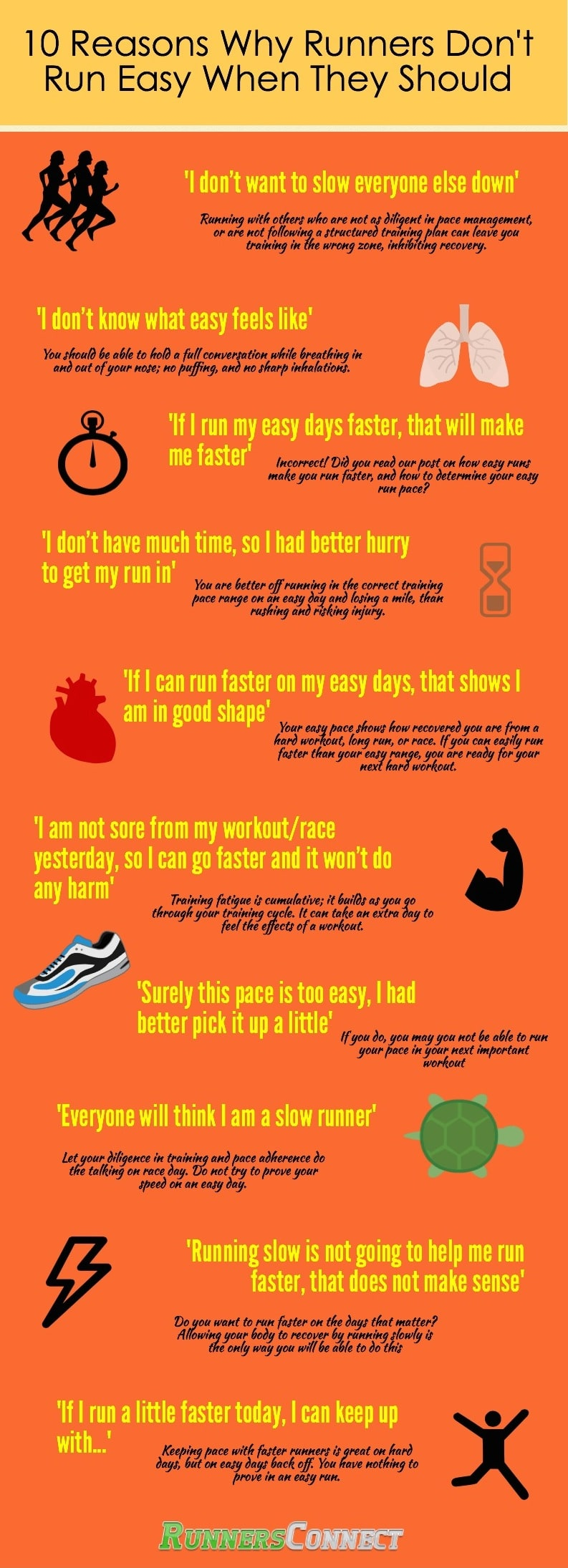 10 Reasons Runner's Do Not Go Easy (When They Know They Should)