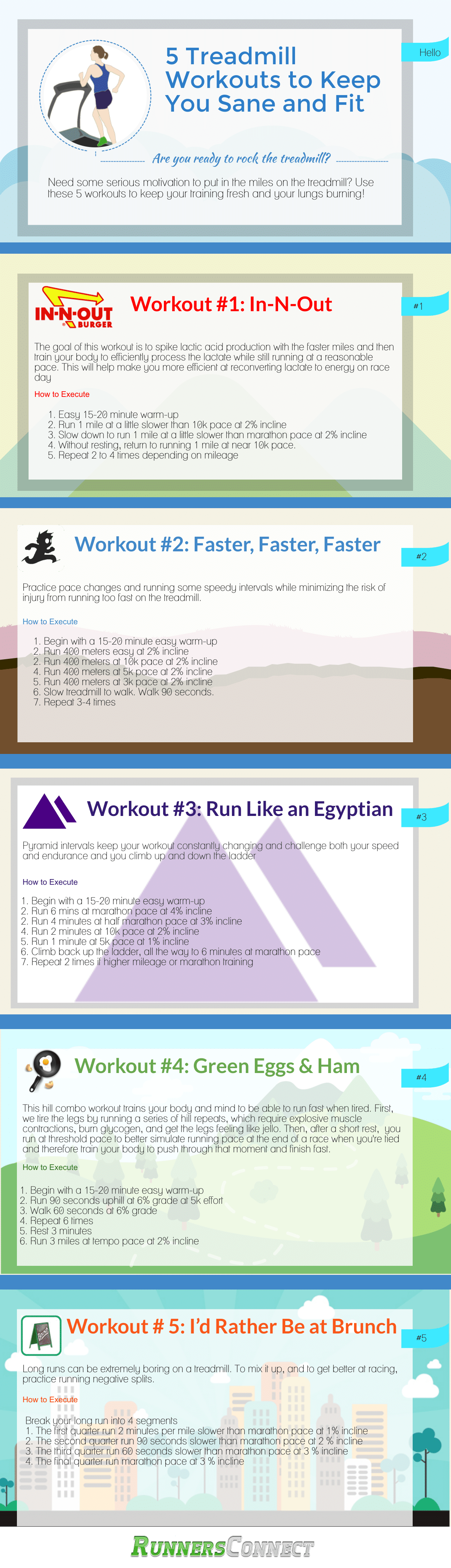 When the weather takes a turn for the worst, the treadmill becomes our new best friend, but like a teenager, too much time means we get fed up, and look for something new; these 5 workouts will help you stay sane on the treadmill, so you can keep up with your training, and have fun doing it!