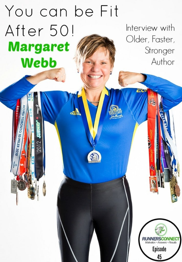 """Think you are """"too old"""" to run? Wrong! This interview with Older, Faster, Stronger Author Margaret Webb shows how you can begin running at any age!"""