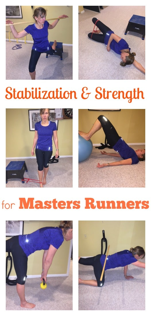 Master's runners need to make strength and stability a priority to stay healthy, we explain why, and share 6 of the best exercises to make sure you stay healthy.
