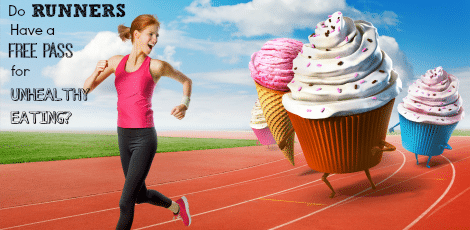 Can runners eat anything they like and stay thin? We look at the research to find out if you can keep your weight low, run fast, and eat fast-food.