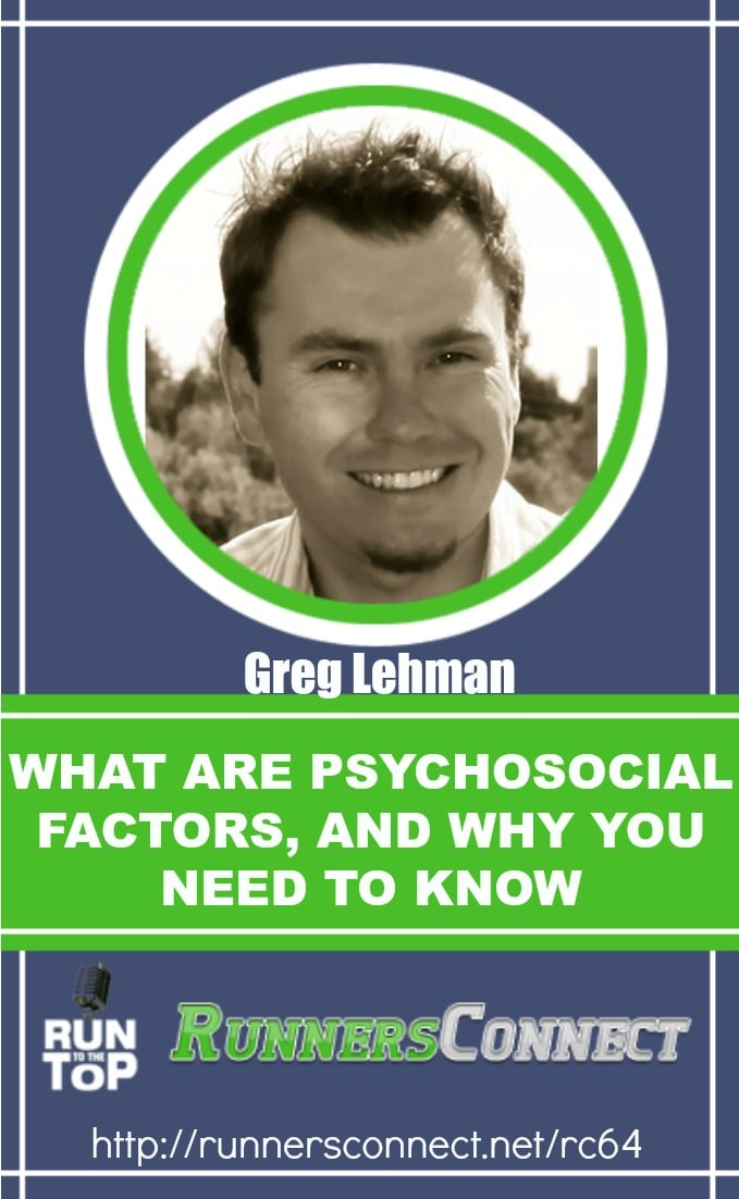 Greg Lehman is a pioneer of the running world, with experience and knowledge in many areas; as a physio, chiropractor, biomechanics expert. He shares what he has learned and why the biopsychosocial model is what is most important to runners to assess to prevent injury and run faster.