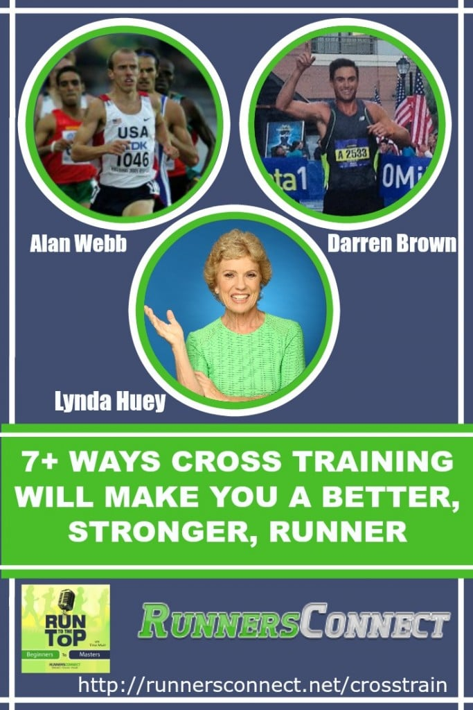 The panel of experts discuss how to use cross training to reach the next level, and get faster without risking injury by running more. American Record Holder in the Mile; Alan Webb; ElliptiGO & Pool Running Expert; Lynda Huey weigh in. This is a must listen podcast for runners!