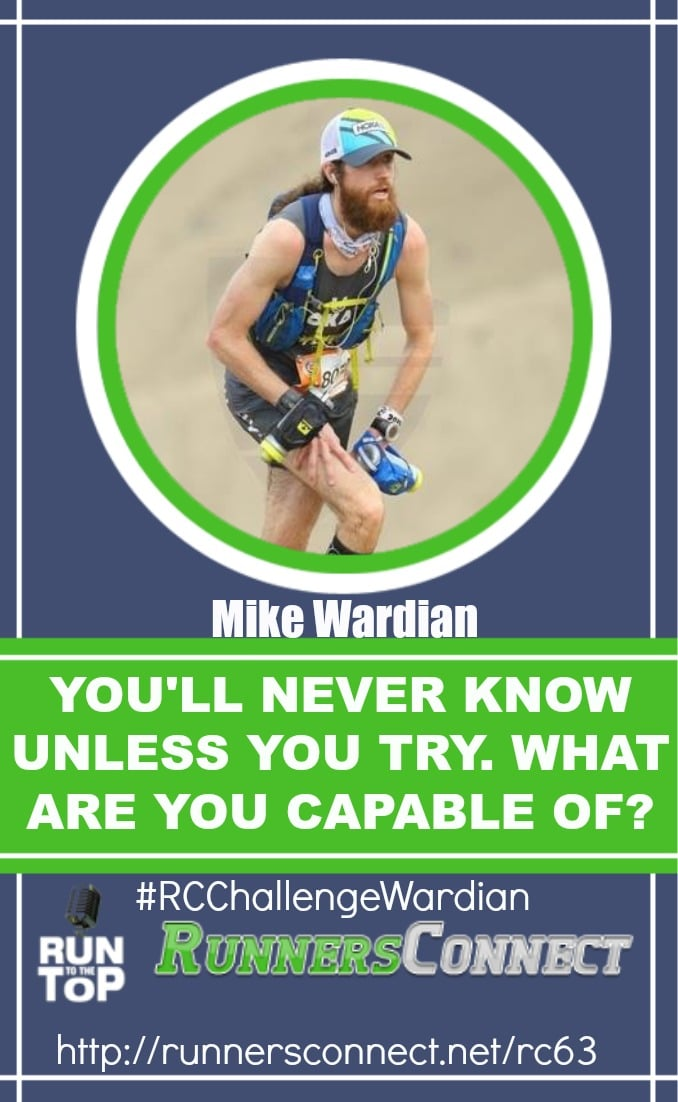 We interview Mike Wardian; world record holder in all kinds of running events. In this inspiring interview, Mike encourages people to try whatever challenges you see, even if you do not think you will succeed, as you never know where it could lead you. There is no secret to his running success, just try hard, and give it your best, and you will discover so much about yourself.