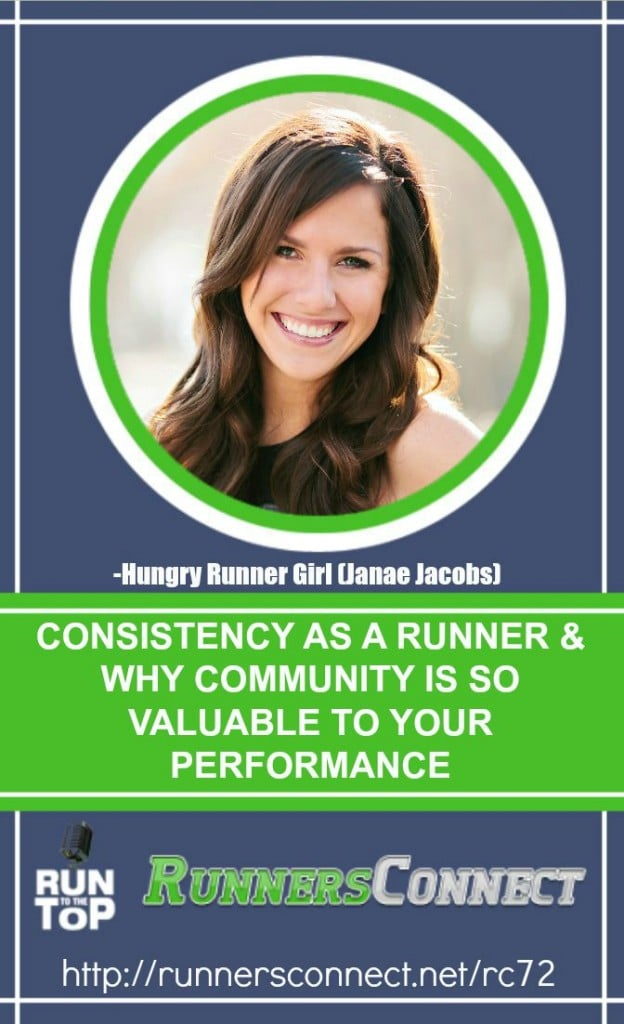 Janae Jacobs has been inspiring others to run for years through her Hungry Runner Girl blog. Listen to her story, and how you can use the running community to keep improving, even if you are training alone. Janae shares how to stay motivated for treadmill running, and how to balance parenthood and your training.