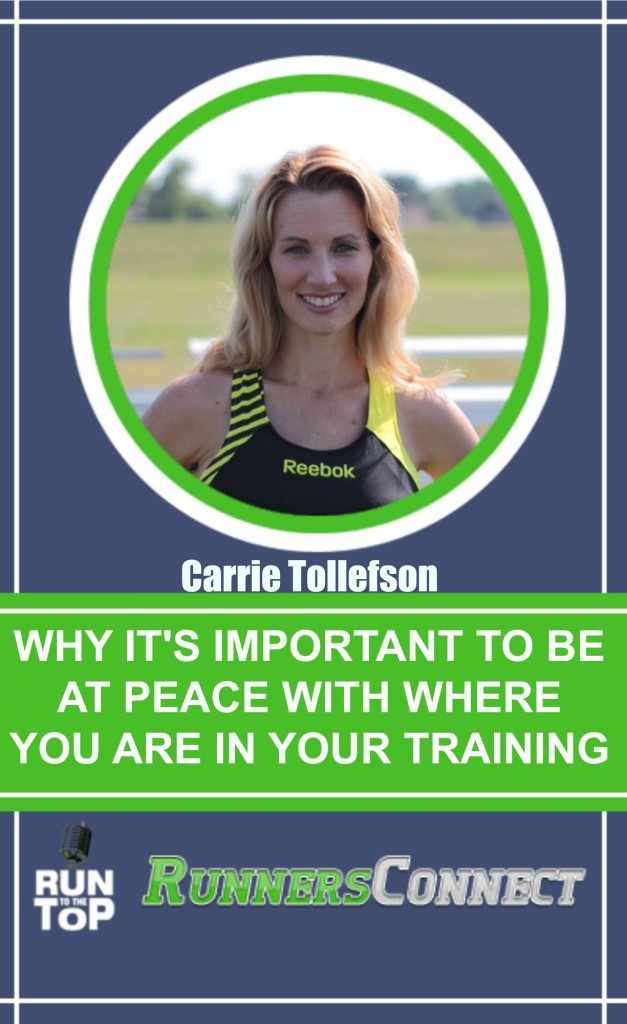 Elite Runner Tina Muir interviews Olympian Carrie Tollefson to discuss how her setbacks led to her greatest accomplishments, how to juggle training when you have training, and how to be at peace with wherever you are at in your training.