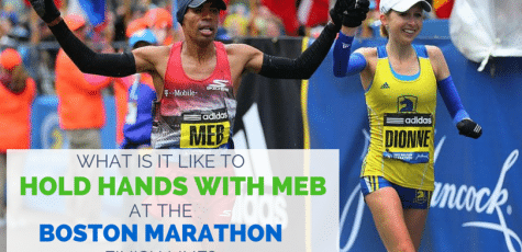 Meb Keflezighi crossing the finish line of the Boston Marathon 2015 will go down in runner history. Business executive Hilary Dionne shares her story. Dionne works 70+ hours a week as an elite runner. Some great advice on how to be creative with workouts and running.
