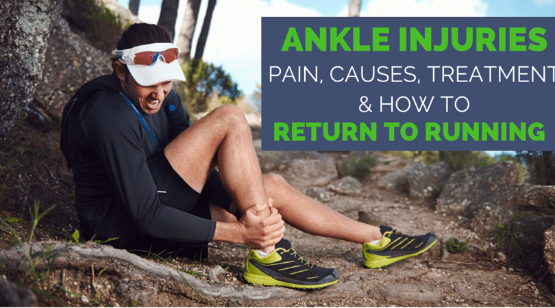 Rolled your ankle on a run? It HURTS! Is it a sprain? Is it tendon? Am I going to be able to keep running? Once you have one sprain, it is more likely to happen again. Make sure it doesn't with this ultimate guide to ankle sprains, treatment, and how to safely return to running (stronger!).