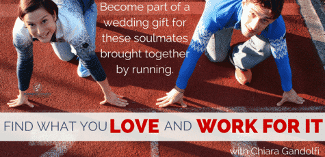 Running does not make us sweaty or gross, but it shows us at our best. Become part of a wedding gift for two people brought together by running.