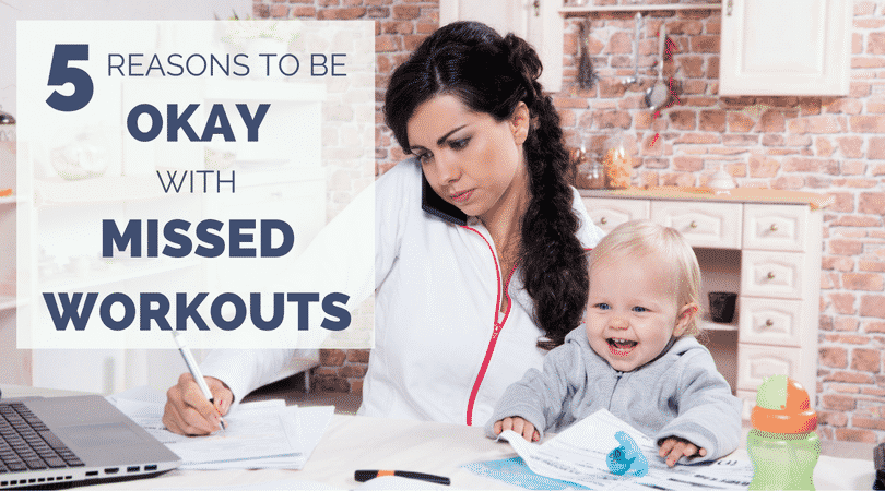 During the holidays, we get even busier than the rest of the year, and we might miss runs or workouts. Here are 5 reasons to stay calm when family and work takes over.