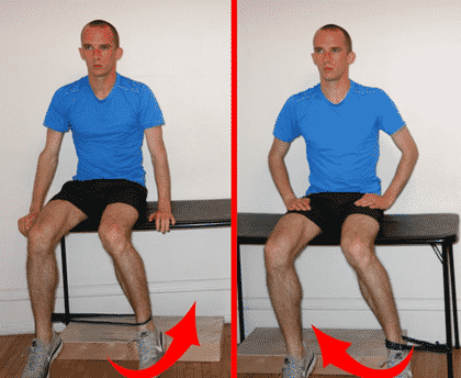 Internal and external hip rotation exercise