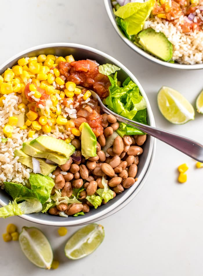 Easy Brown Rice Burrito Bowl - Runners Connect